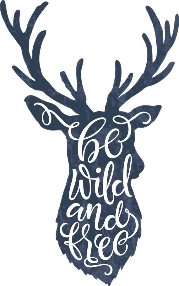 Svg Dxf Deer Antlers Horns Wild Free Digital By Redklovers