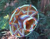 Unique Vintage Gold Glass Garden Art - Handcrafted glass plate flower, Yard art and garden sun catcher - yard art - garden gift