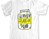 SUMMER STATE of MIND Mason Jar Pinapples T-shirt Women Men Children Small, Medium, Large, X-Large