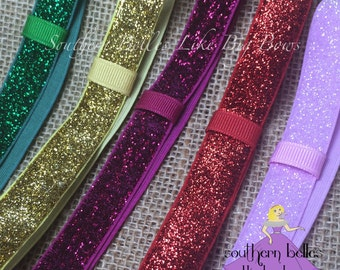 Add A Stretch Glitter Headband to Your Bow, Glitter Headband, Glitter Elastic Headband