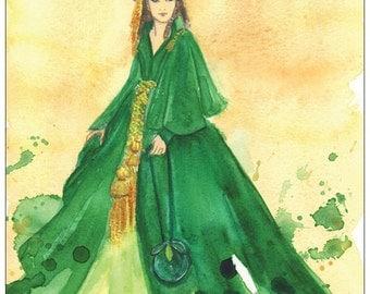 Scarlett O'Hara - Tara curtains gown