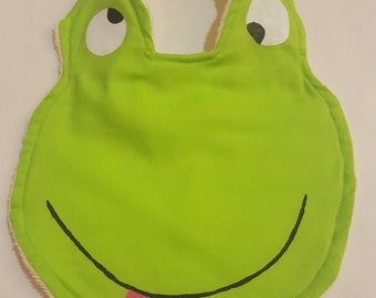 Green Froggy Bib