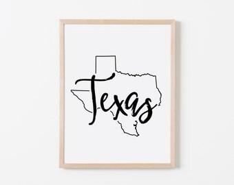 Texas Nursery Art. Nursery Wall Art. Nursery Prints. Texas Wall Art. State Wall Art. Texas Nursery.