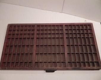 Vintage Letterpress Printer's Drawer Type Case Shadow Box   ** ON SALE **