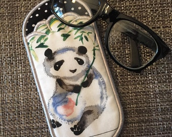 Cute Panda Eyeglass Case