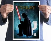 For Irene, Darth Vader Toilet sign,A4 poster