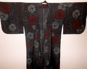 SUMMER SALE 30%off!! - Antique kimono - Floral, Sya, Unlined