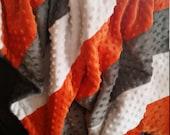 Minky Strip Blanket Cuddly soft Baby Blanket