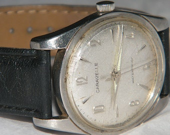 Vintage Mens Caravelle by Bulova Mechanical Wind Watch