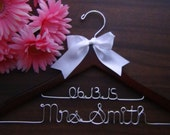 2 LINE BRIDAL HANGER with Date, Personalized Keepsake Hanger, Flower Girl Gift idea,Wedding Hangers with Names, Wedding Photo Props