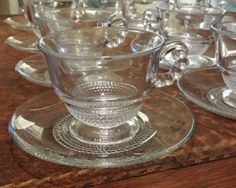 Vintage Duncan and Miller Teardrop Cup and Saucer