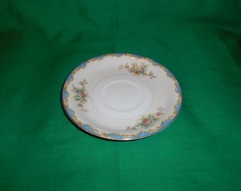 """One (1), Porcelain, 5 7/8"""" Teacup Saucer, from Meito China, in the V 2146 Pattern"""