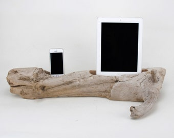 Docking Station, iPad docking station, iPhone Charger, iPhone docking Station, iPad dock, iPad 4, iPad, wood iPhone dock/ Driftwood- No. 905