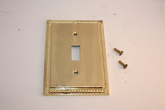 Vintage Solid Metal Switch Plate Light Switch Cover Metal