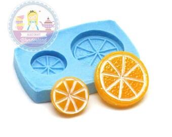 Lemon Slice Cabochon Mold 16mm, 10mm Flexible Mold Chocolate Mold Bakery Mold Fondant Mold Resin Mold Polymer Clay 422s423s*