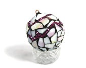 Christmas Ornament, Mosaic Ornament, Candy Stained Glass Ornament, Christmas Tree Decor, Holiday, Glass Ornament, Christmas Decor