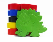 Dinosaur crayons - Dinosaur Party - Childrens Crayons - Birthday Gift - Shaped Crayons - Childrens Gift - Set of 6 - Dinosaur Gift -