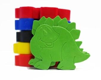 Dinosaur crayons - Dinosaur Party - Childrens Crayons - Birthday Gift - Shaped Crayons - Childrens Gift - Set of 6 - Dinosaur Gift -