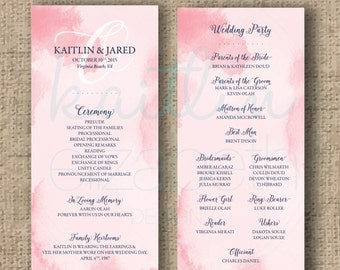 Custom/Printable PDF Wedding Programs