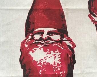 Ho Ho Ho!  Fabulous screen print Santa fabric/material.  Holiday fun!