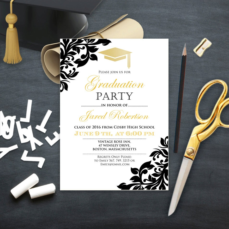 graduation party invitations and free printable graduation party