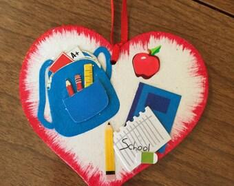 Teacher School Christmas ornament/Gift Tag  Free personalization