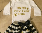 Baby girl new years outfit