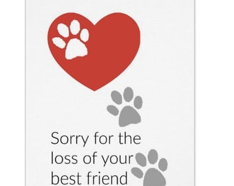 Pet Sympathy Card, Sorry For Your Loss, Sympathy Cards, Dog Loss, Cat Loss, Loss of a Pet, Rainbow Bridge, Birthday Card, Friendship Card