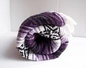 Vintage Purple Falsa Mexican Serape Woven Blanket