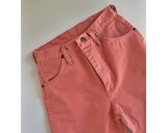 Vintage Coral high-waist Wrangler jeans.