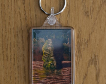 Cthulhu Rises From The Deep, Key Ring, Key Fob