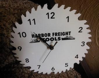 Harbor Freight Tools Saw Blade Clock - Saw Blade Clock - Man Cave Decor