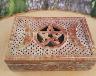 Witch Box - Moon Goddess - Stash Box - Keepsake Box - Treasure Box - Collection Box - Triple Moon Goddess - Gypsy