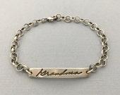 personalized handwriting bracelet | memorial jewelry | new baby | wedding gift | Authentic Love Handwriting Bracelet