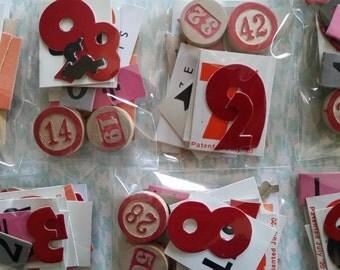 16 pc Vintage Number Assortment