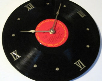 JANIS JOPLIN LP record album clock. In Concert - Upcycled