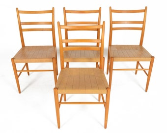 Set of Four Swedish Modern Mid Century Yngve Ekström Gracell Dining Chairs