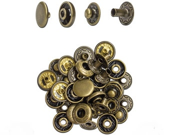 10mm Antique Brass Spring Snap - 10 Pack #115-125005