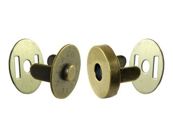 "3/4"" Antique Brass Magnetic Snap #52-"