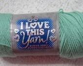 Yarn Destash 7 Ounces Acrylic Worsted Mint Green I Love This Yarn