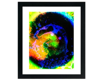 8.5 x 11 Print - Ink in Watercolor Psychedelic Art ~ Oil & Water ~ 60's Liquid Lights Photograph ~ Liquid dot Lighting