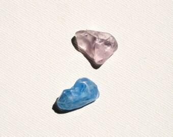 Bonfire Sea Glass,Blue/Lilac Sea Glass,Pendant/Ring Sized,Bonfire  Sea Glass
