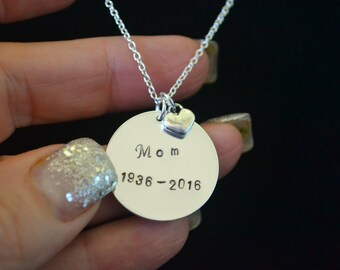 Custom Hand Stamped, Personalized Jewelry, Custom Hand Stamped Jewelry, Sterling Silver Necklace, Memorial Jewelry, Rest In Peace, Blanks