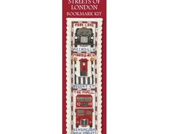 Streets of London Bookmark Cross Stitch Kit - Textile Heritage