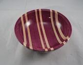 Purpleheart/Maple Bowl