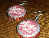 Nuka Cola (Fallout inspired) bottle cap Earrings from straight out of the Wasteland!