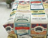 "Panel Linen Cotton Fabric Environmental Protection ads - 8 cuts  35""X57"" /88cm x 145cm"