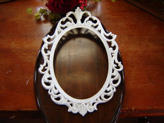 White Ornate Oval Frames Made In Italy 5x7 Frame Wall Frames