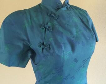 60s cotton Cheongsam wiggle dress