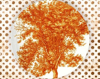 Tree, Tango Orange melamine plate
